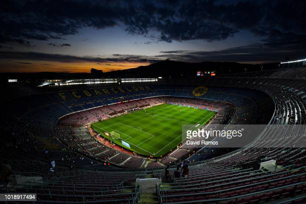 A general view of the stadium prior to the La Liga match between FC Barcelona and Deportivo Alaves at Camp Nou on August 18 2018 in Barcelona Spain
