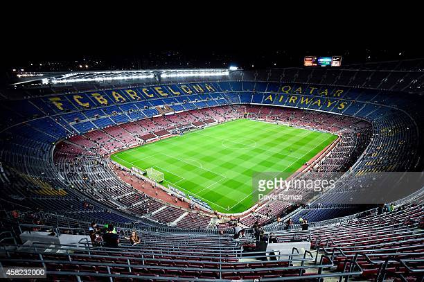 A general view of the stadium prior to the La Liga match between FC Barcelona and Celta de Vigo at Camp Nou on November 1 2014 in Barcelona Spain