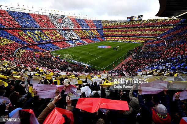 General view of the stadium prior to the La Liga match between FC Barcelona and Real Madrid CF at Camp Nou on December 3, 2016 in Barcelona, Spain.