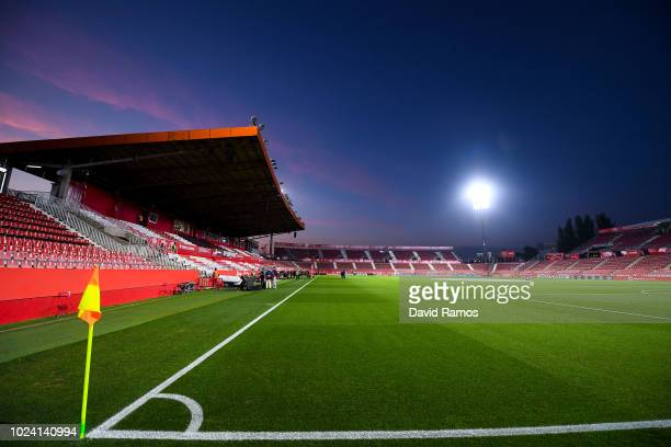 A general view of the stadium prior to the La Liga match between Girona FC and Real Madrid CF at Montilivi Stadium on August 26 2018 in Girona Spain