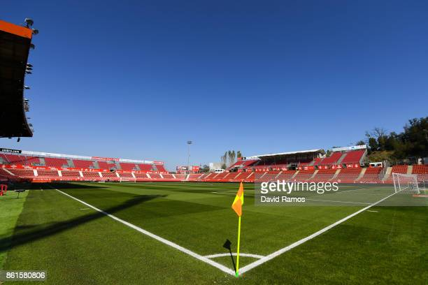General view of the Stadium prior to the La Liga match between Girona and Villarreal at Estadi de Montilivi on October 15 2017 in Girona Spain
