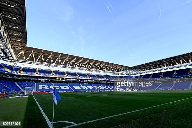 General view of the stadium prior to the La Liga match between RCD Espanyol and Real Madrid CF at the RCDE stadium on September 18 2016 in Barcelona...