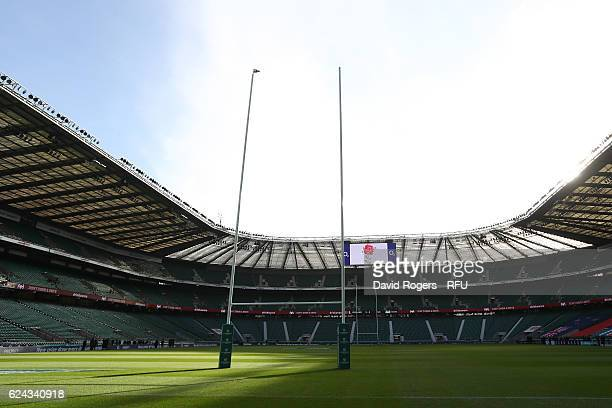 A general view of the stadium prior to the Old Mutual Wealth series match between England and Fiji at Twickenham Stadium on November 19 2016 in...
