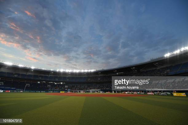 General view of the stadium prior to the Playoff Round match between Japan and United States at ZOZO Marine Stadium on day ten of the WBSC Women's...
