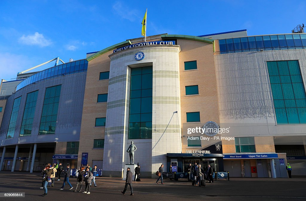A general view of the stadium prior to the Premier League match at Stamford Bridge, London.