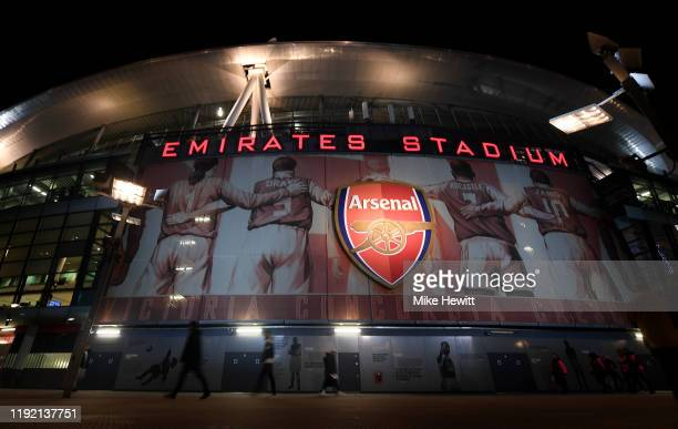 General view of the stadium prior to the Premier League match between Arsenal FC and Brighton & Hove Albion at Emirates Stadium on December 05, 2019...