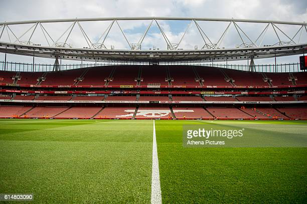General View of the stadium prior to the Premier League match between Arsenal and Swansea City at Emirates Stadium on October 15 2016 in London...