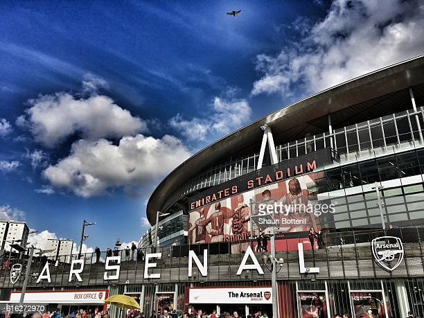 A general view of the stadium prior to the Premier League match between Arsenal and Middlesbrough at the Emirates Stadium on October 22 2016 in...