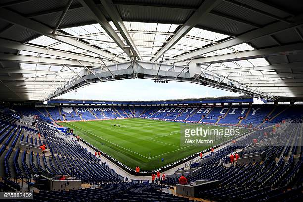 A general view of the stadium prior to the Premier League match between Leicester City and Middlesbrough at The King Power Stadium on November 26...