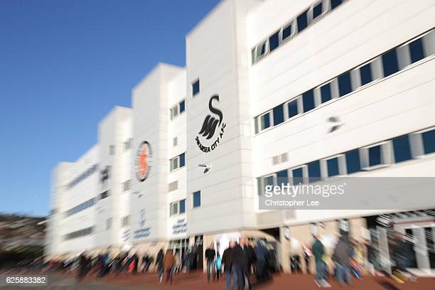 A general view of the stadium prior to the Premier League match between Swansea City and Crystal Palace at Liberty Stadium on November 26 2016 in...