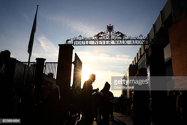 A general view of the stadium prior to the Premier League match between Liverpool and Sunderland at Anfield on November 26 2016 in Liverpool England