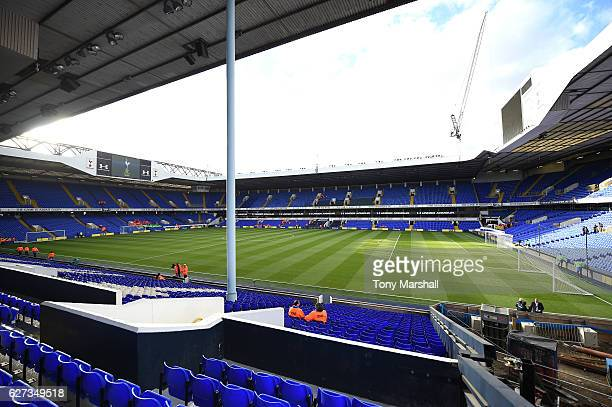 A general view of the stadium prior to the Premier League match between Tottenham Hotspur and Swansea City at White Hart Lane on December 3 2016 in...