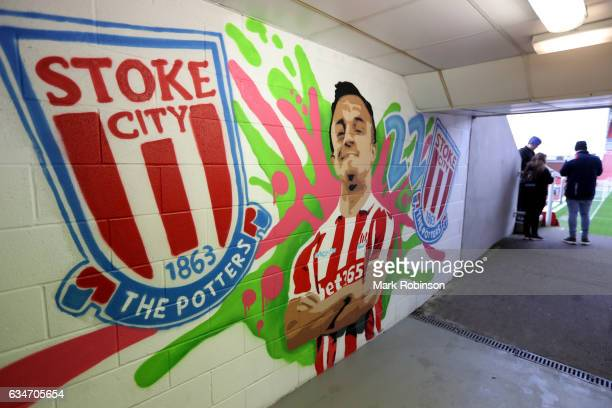 A general view of the stadium prior to the Premier League match between Stoke City and Crystal Palace at Bet365 Stadium on February 11 2017 in Stoke...