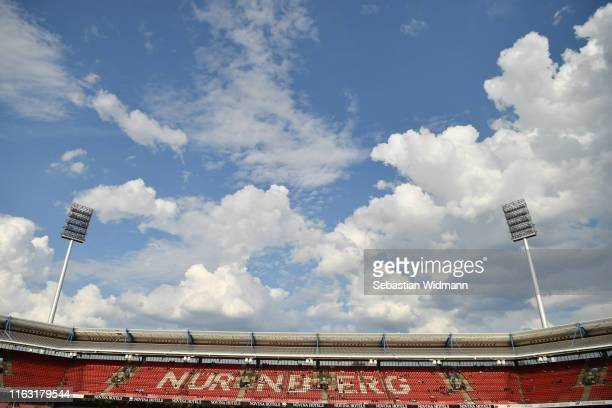General view of the stadium prior to the pre-season friendly match between 1. FC Nuernberg and Paris Saint-German at Max-Morlock-Stadion on July 20,...