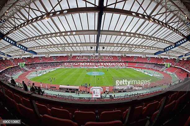 A general view of the stadium prior to the Second Bundesliga match between 1 FC Nuernberg and Arminia Bielefeld at GrundigStadion on September 25...
