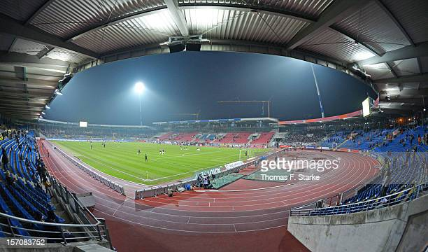 A general view of the stadium prior to the Second Bundesliga match between Eintracht Braunschweig and FC St Pauli at the Eintracht Stadium on...