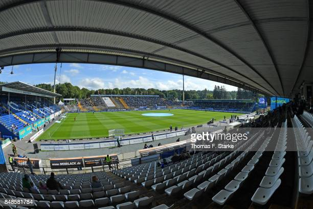 A general view of the stadium prior to the Second Bundesliga match between SV Darmstadt 98 and DSC Arminia Bielefeld at MerckStadion am...
