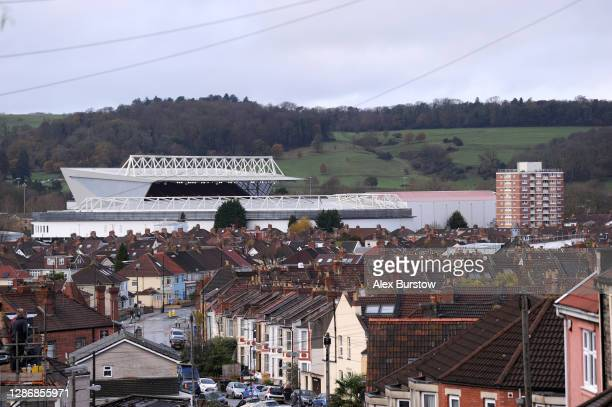 General view of the stadium prior to the Sky Bet Championship match between Bristol City and Derby County at Ashton Gate on November 21, 2020 in...