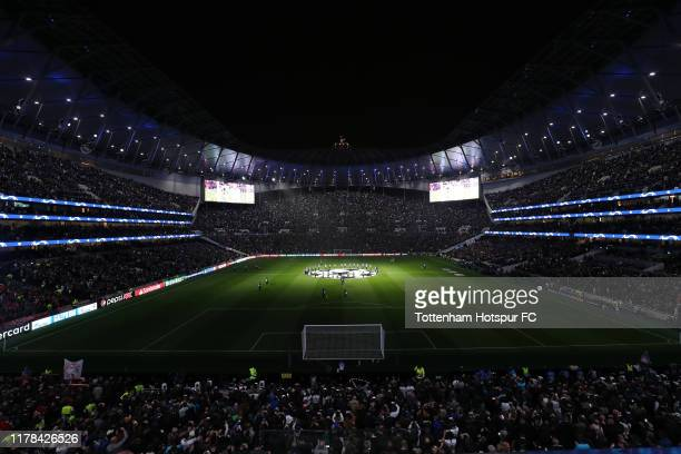 General view of the stadium prior to the UEFA Champions League group B match between Tottenham Hotspur and Bayern Muenchen at Tottenham Hotspur...