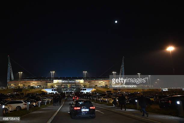 A general view of the stadium prior to the UEFA Champions League group stage match between Juventus and Manchester City FC at Juventus Arena on...