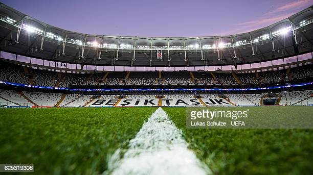 General view of the stadium prior to the UEFA Champions League match between Besiktas JK and SL Benfica at Vodafone Arena on November 23, 2016 in...