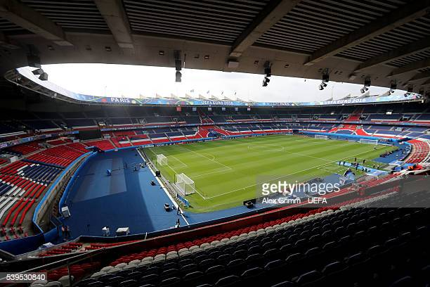 A general view of the stadium prior to the UEFA EURO 2016 Group D match between Turkey and Croatia at Parc des Princes on June 12 2016 in Paris France