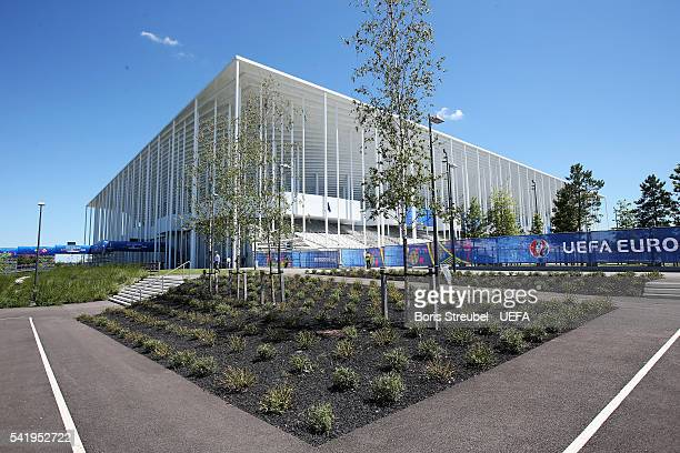 A general view of the stadium prior to the UEFA EURO 2016 Group D match between Croatia and Spain at Stade Matmut Atlantique on June 21 2016 in...