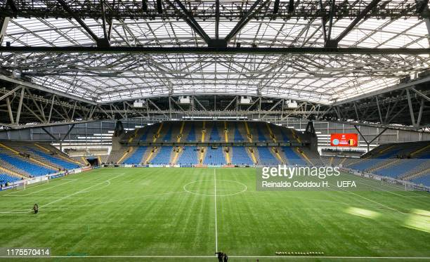 A general view of the stadium prior to the UEFA Euro 2020 qualifier between Kazakhstan and Belgium on October 13 2019 in Astana Kazakhstan