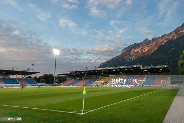 General view of the stadium prior to the UEFA Europa League qualification match between FC Vaduz and Hibernians F.C. At Rheinpark Stadion on August...