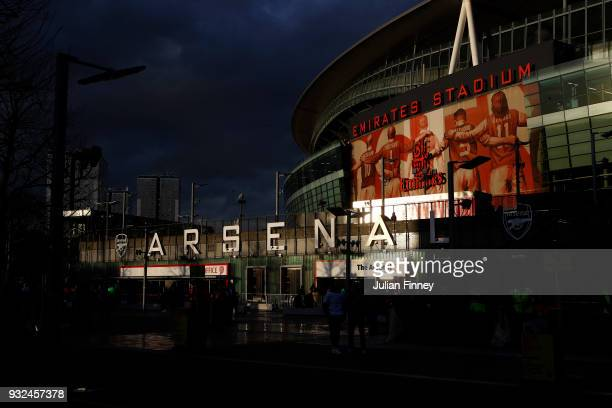 General View of the Stadium prior to the UEFA Europa League Round of 16 Second Leg match between Arsenal and AC Milan at Emirates Stadium on March 15...