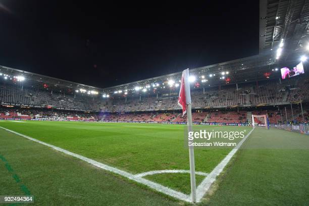General view of the stadium prior to the UEFA Europa League Round of 16 match between FC Red Bull Salzburg and Borussia Dortmund at the Red Bull...