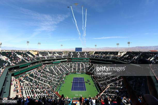 A general view of the stadium prior to the women's final at the BNP Paribas Open on March 18 2018 in Indian Wells California