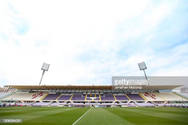 General view of the stadium prior to the Women's UEFA Champions League Round of 16 match between ACF Fiorentina and Manchester City WFC at Stadio...