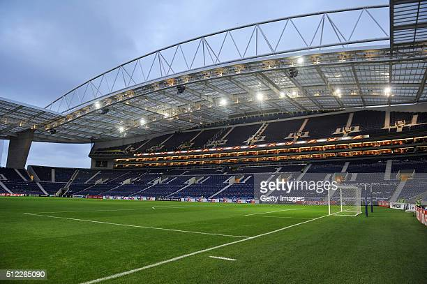 A general view of the stadium prior to theUEFA Europa League Round of 32 Second Leg match between FC Porto and Borussia Dortmund at Estadio do Dragao...