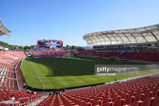 General view of the stadium Rio Tintoprior the NWSL game between Utah Royals FC and Portland Thorns FC at Rio Tinto Stadium on July 19, 2019 in...