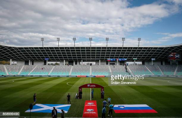 General view of the stadium Stozice prior to the FIFA 2018 World Cup qualifier between Slovenia and Scotland at stadium Stozice on October 08 2017 in...