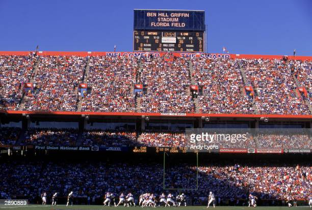 A general view of the stadium taken during a game between South Carolina and Florida on November 11 2000 at Ben Hill Griffin Stadium in Gainesville...