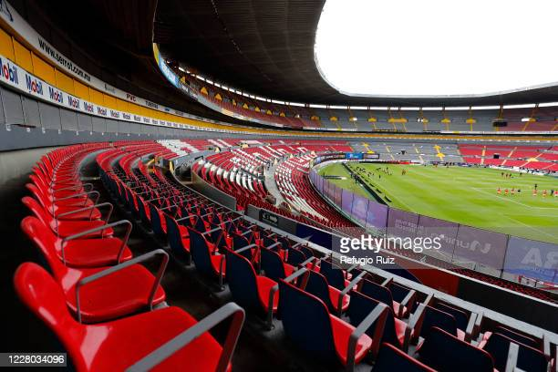 General view of the stadium with empty stands of Jalisco stadium before the 4th round match between Atlas and Toluca as part of the Torne Guard1anes...