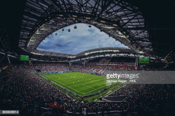 A general view of the stadiuml during the FIFA Confederations Cup Russia 2017 Group A match between Mexico and Russia at Kazan Arena on June 24 2017...