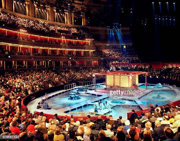 General view of the stage and audience in the auditorium during a performance of 'Madame Butterfly' Royal Albert Hall London 1994