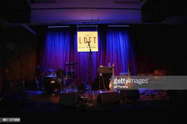 General view of the stage and setup when The National Reserve performs during the venue preview party at The Loft at City Winery on May 21 2018 in...