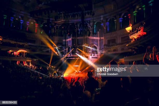 General view of the stage and the auditorium as Marillion perform at The Royal Albert Hall on 13 October 2017 in London England