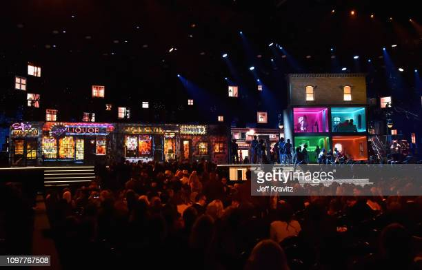 A general view of the stage at during the 61st Annual GRAMMY Awards at Staples Center on February 10 2019 in Los Angeles California