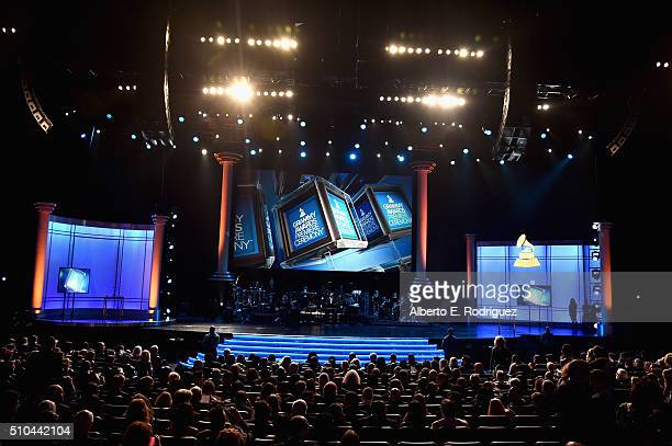 A general view of the stage at the GRAMMY PreTelecast at The 58th GRAMMY Awards at Microsoft Theater on February 15 2016 in Los Angeles California