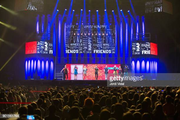 General view of the stage during Disney show Soy Luna at Palau Sant Jordi on January 5 2018 in Barcelona Spain