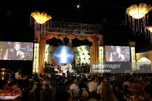 A general view of the stage during musician Mark Isham performance at the Church of Scientology Celebrity Centre 37th Anniversary Gala on August 5...
