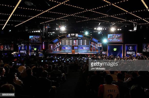 A general view of the stage during the 2009 NBA Draft at the Wamu Theatre at Madison Square Garden June 25 2009 in New York City NOTE TO USER User...