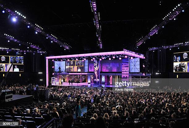 A general view of the stage during the 61st Primetime Emmy Awards held at the Nokia Theatre on September 20 2009 in Los Angeles California