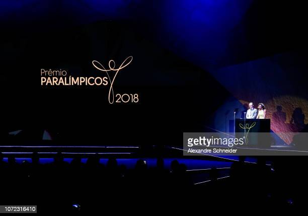 General view of the stage during the Brazil Paralympics Awards Ceremony 2018 at Paralympic Tranining Center on December 12 2018 in Sao Paulo Brazil
