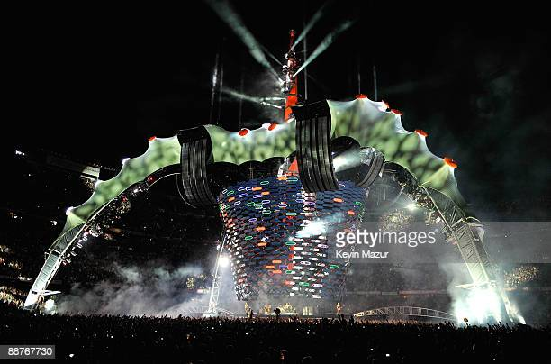 A general view of the stage during the U2 360 opener at the Camp Nou stadium on June 30 2009 in Barcelona Spain